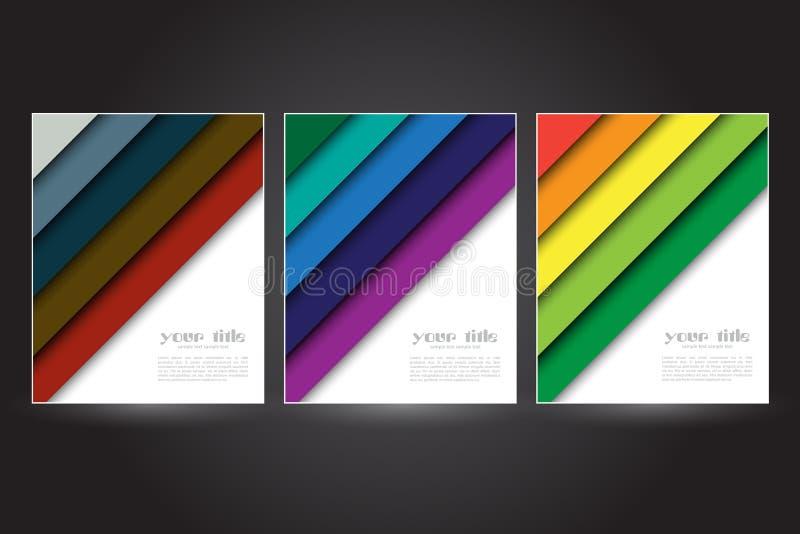 Design för färgflikbaner royaltyfri illustrationer