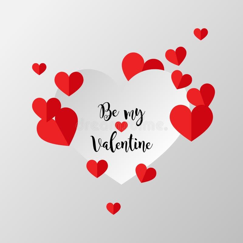 Design för förälskelse för dag för valentin` s idérik vektor illustrationer