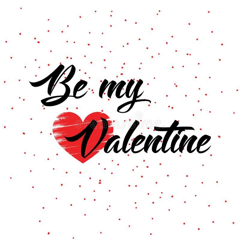 Design för förälskelse för dag för valentin` s idérik stock illustrationer