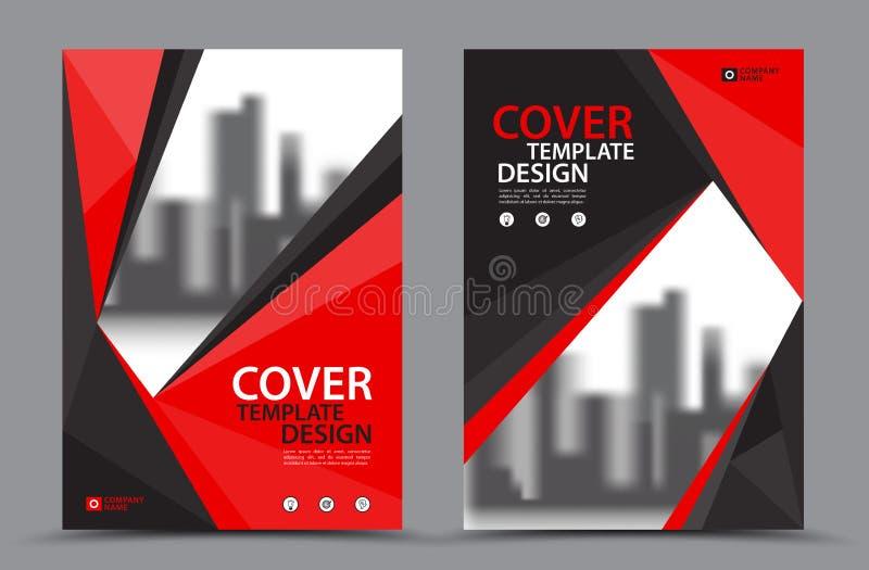 Design för format för mall A4 för reklamblad för vektorbroschyrbroschyr, årsrapport stock illustrationer