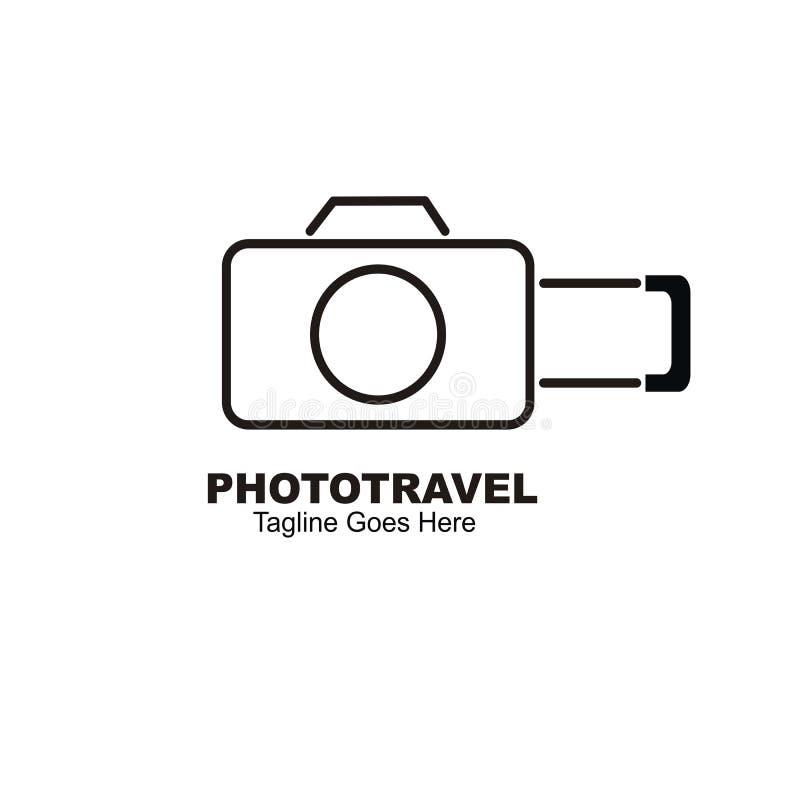 Design för fotolopplogo vektor illustrationer