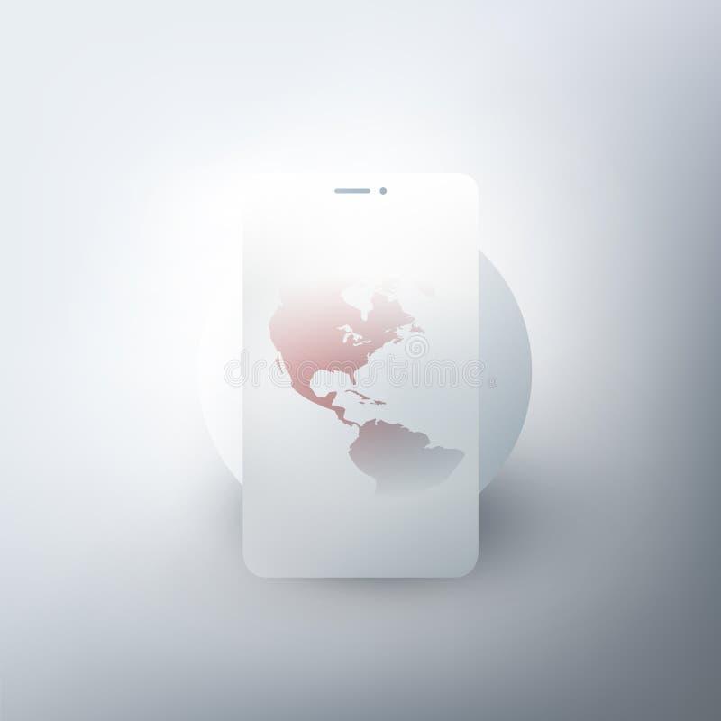 Design för globala nätverk, jordjordklot arkivbild