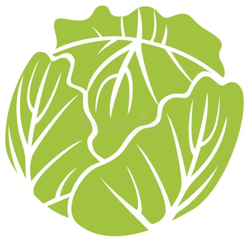 Design för grön kål stock illustrationer