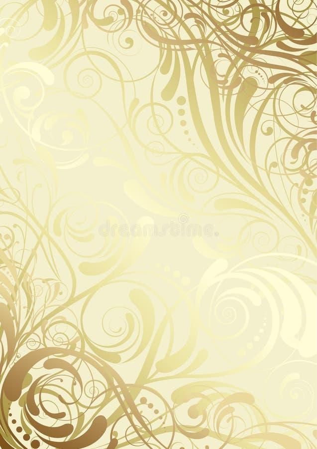 Design för hörnbakgrundsvirvel royaltyfri illustrationer