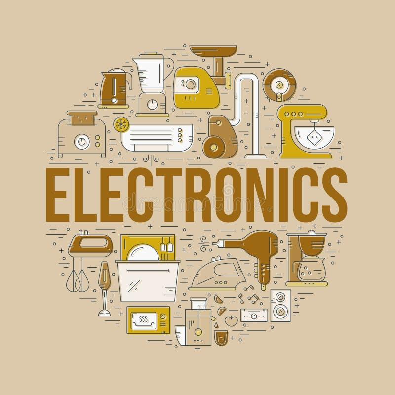 Design för hem- elektronik royaltyfri illustrationer