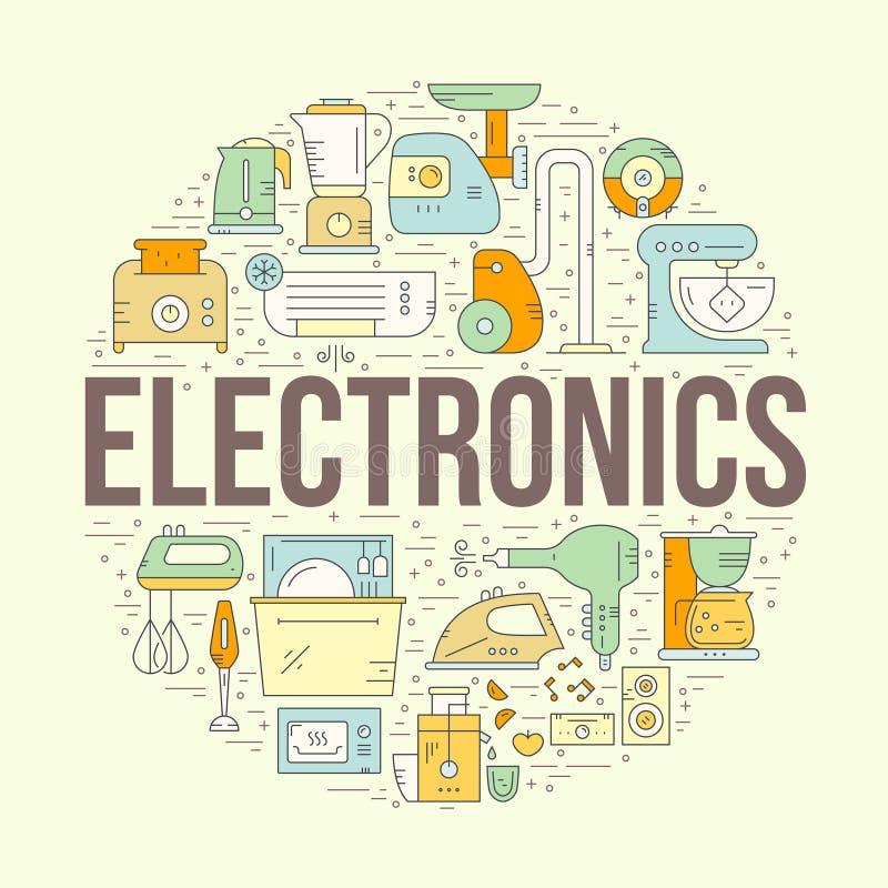 Design för hem- elektronik vektor illustrationer