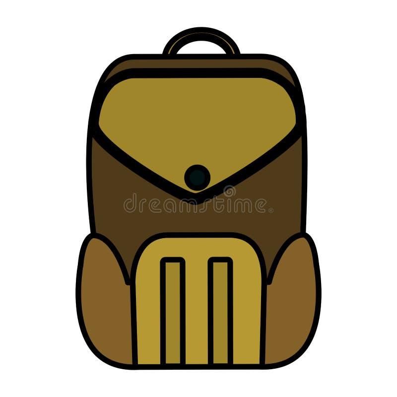 Design för hjälpmedel för skola för färgutbildningsryggsäck stock illustrationer