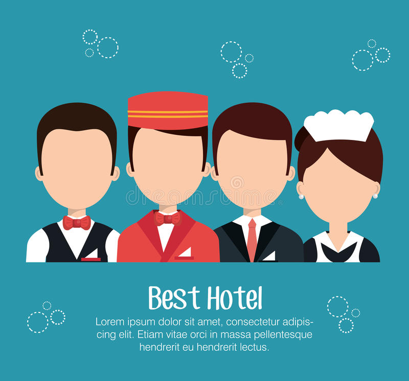Design för hotellservice vektor illustrationer
