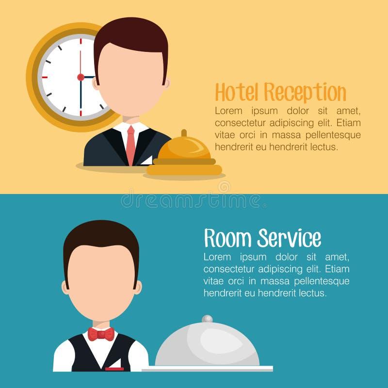 Design för hotellservice stock illustrationer