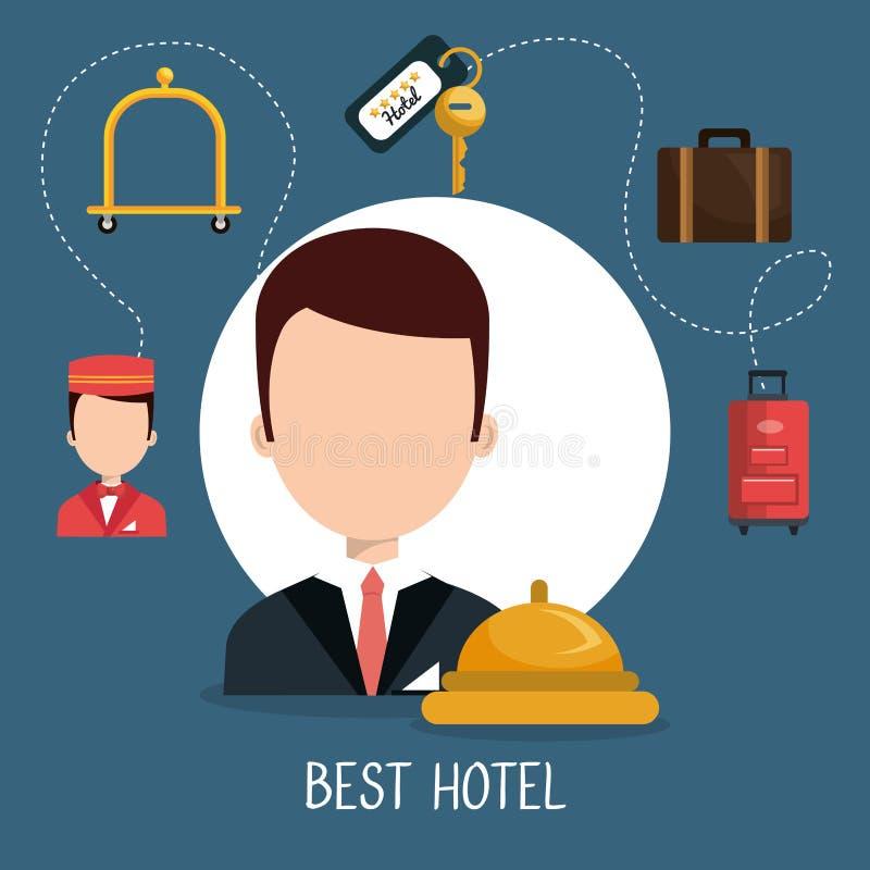 Design för hotellservice vektor illustrationer