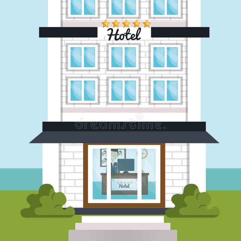 Design för hotellservice royaltyfri illustrationer