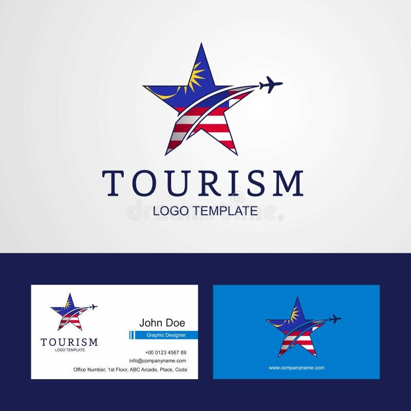 Design för idérikt för stjärna för loppMalaysia flagga kort för logo och för affär vektor illustrationer