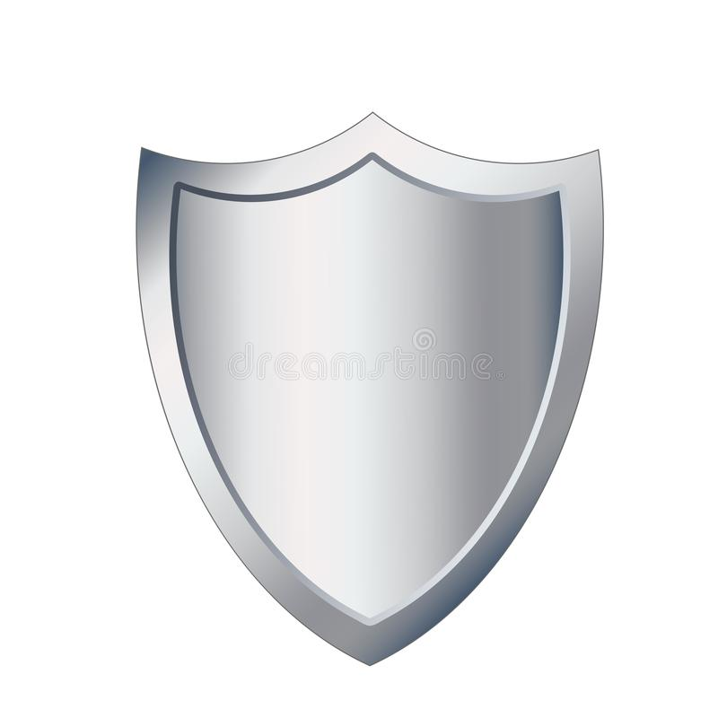 Design för illustration för bild för symbol för metallsköldskydd, s royaltyfri illustrationer
