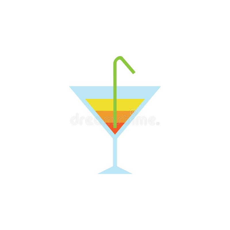 Design för illustration för Coctail Glass vektordiagram royaltyfri illustrationer