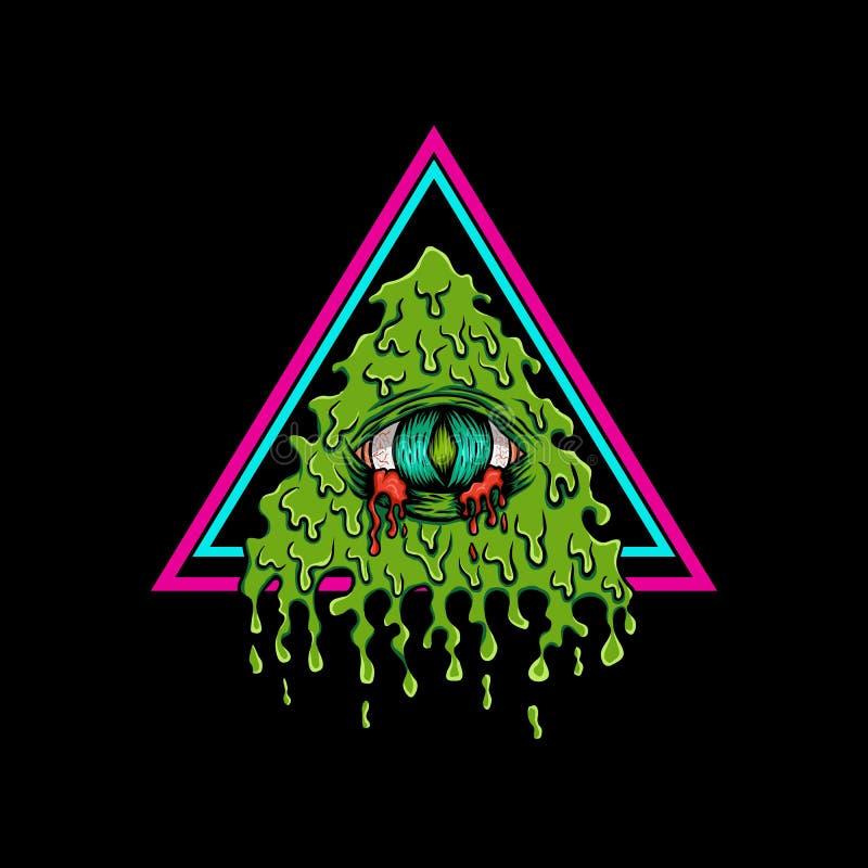 Design för illustration för Illuminati blödningvektor royaltyfri illustrationer