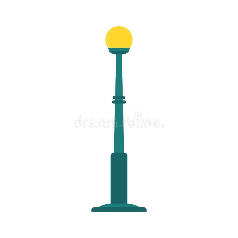 Design för illustration för lägenhet för vektor för begrepp för stolpe för stadsgatalampa som isoleras på vit royaltyfri illustrationer