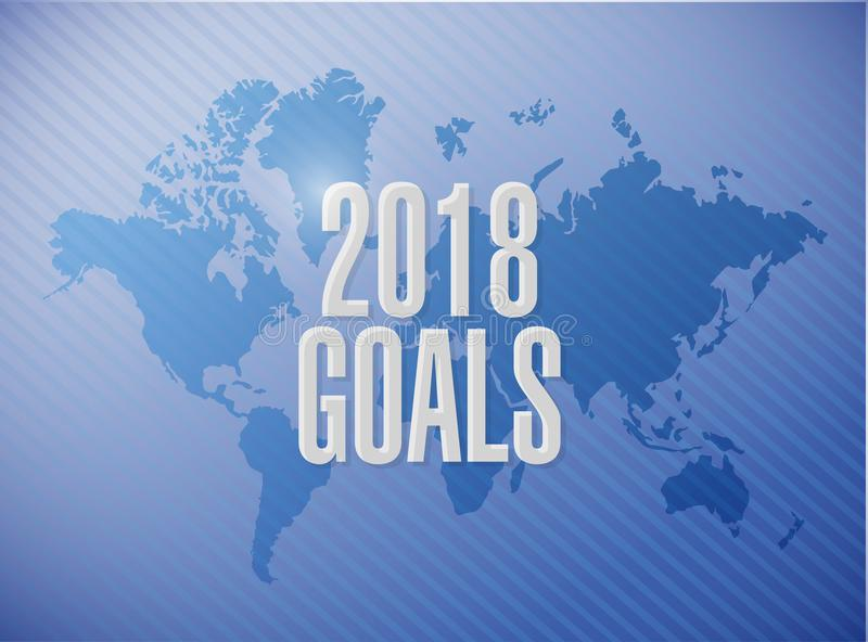 design 2018 för illustration för målvärldskartatecken stock illustrationer