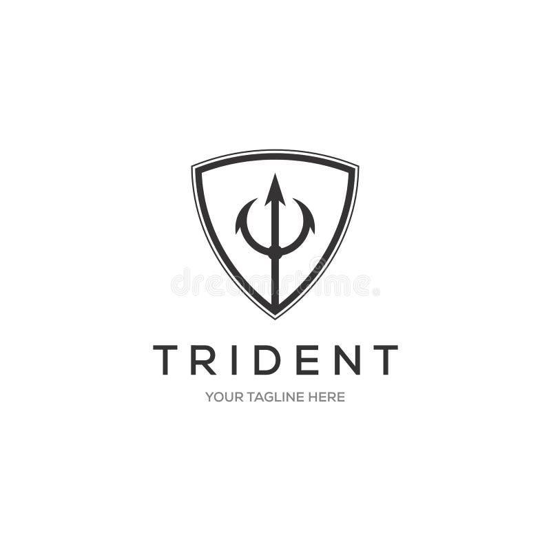 Design för illustration för Trident Logo Template vektorsymbol vektor illustrationer