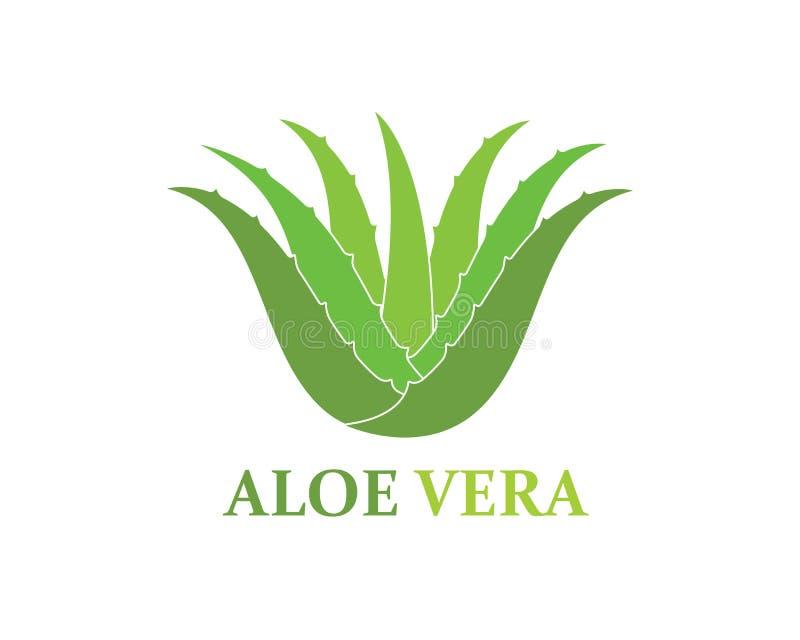 design för illustration för vektor för aloeveralogosymbol stock illustrationer