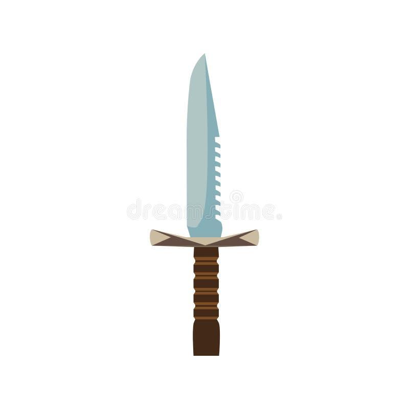 Design för illustration för vektor för knivsvärdvapen forntida vektor illustrationer
