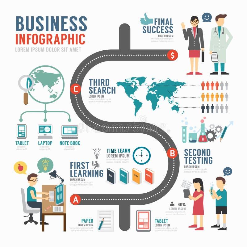 Design för Infographic affärsmall begreppsvektor royaltyfri illustrationer