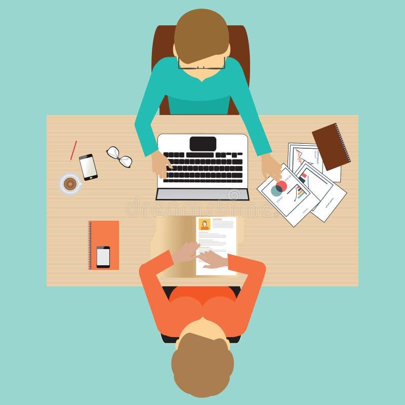 Design för jobbintervju royaltyfri illustrationer