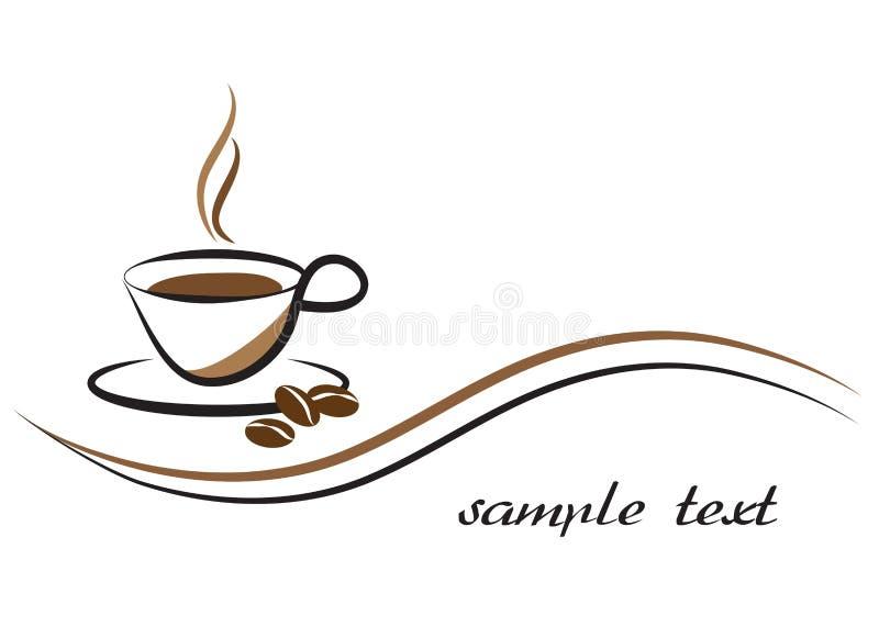 Design för kaffeaffärslogo, vektorillustration stock illustrationer