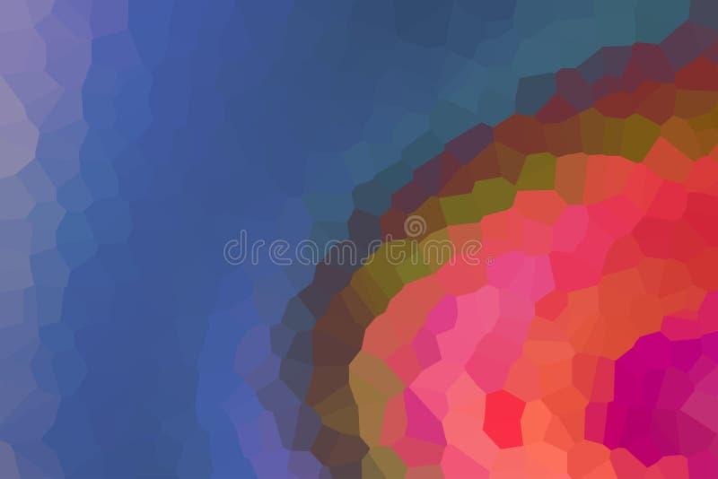 Design för kanfas för färgrik för bakgrund för bakgrund för mosaik för kalejdoskopsuddighetsfragment persika för diamant violett  stock illustrationer