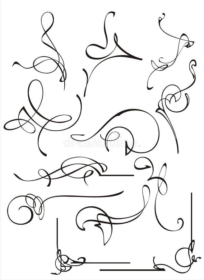 design för kantsamlingshörn arkivbild