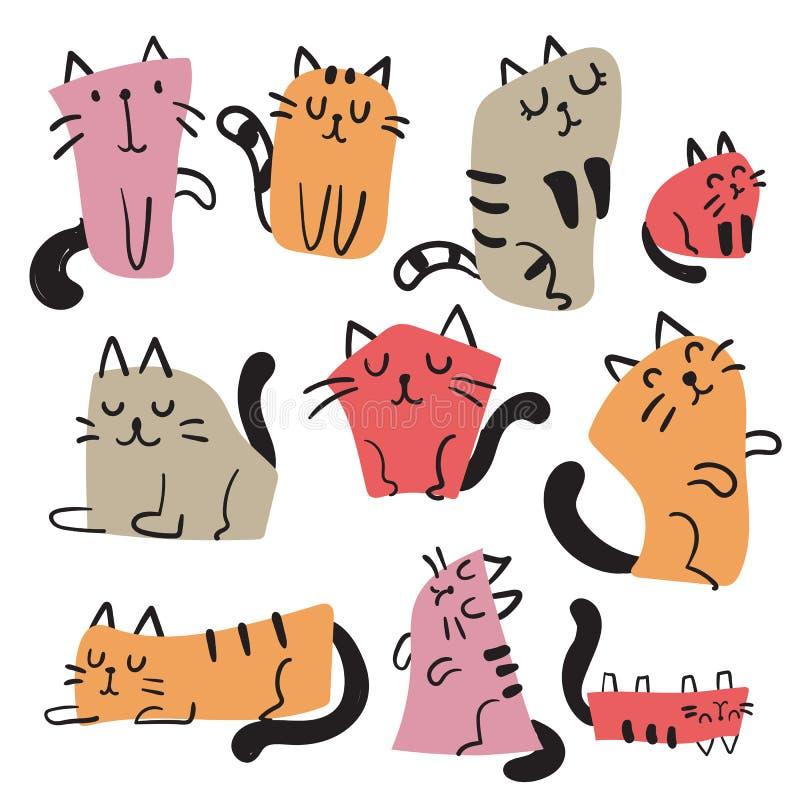 Design för kattteckenvektor vektor illustrationer
