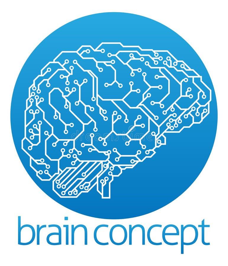 Design för konstgjord intelligens stock illustrationer
