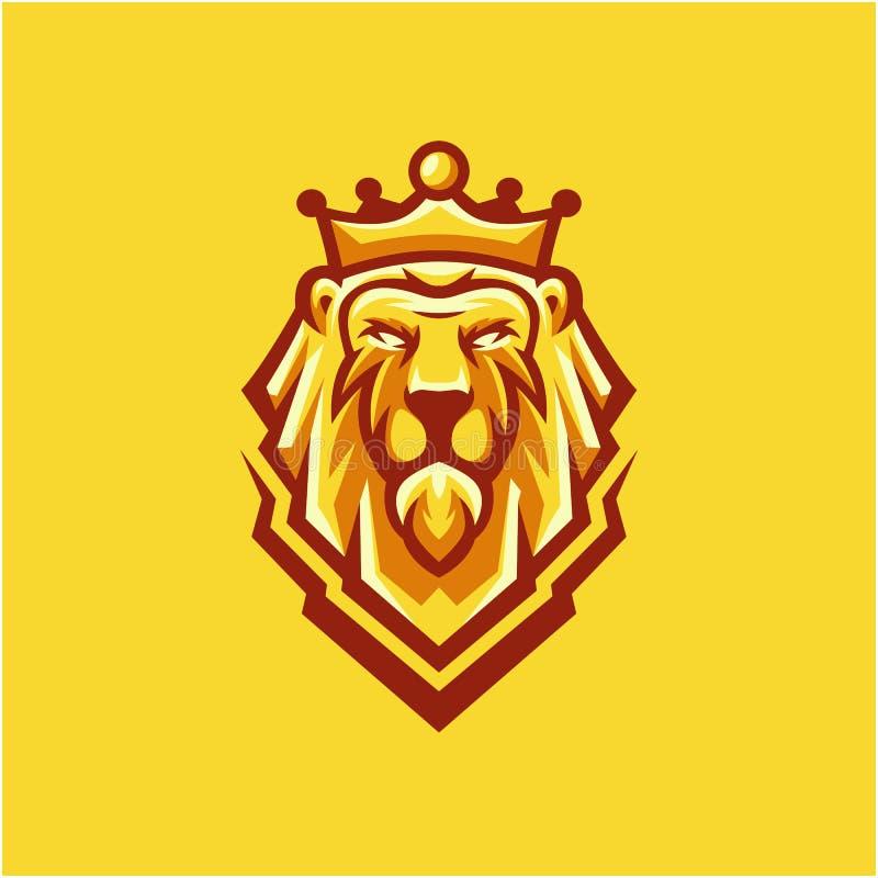 Design för konunglejonlogo för ditt företag royaltyfri illustrationer