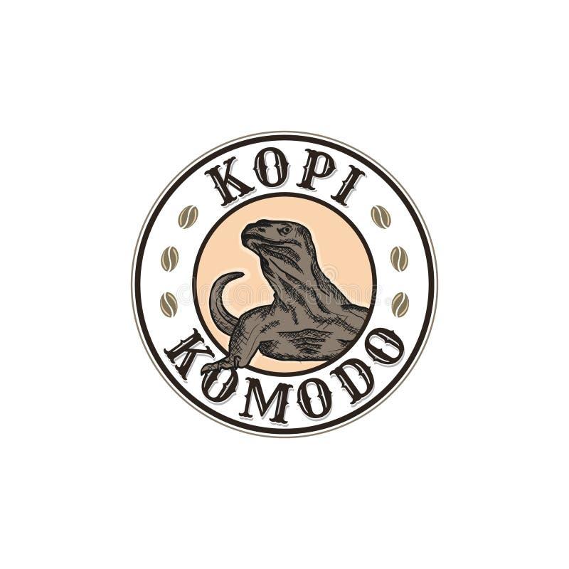 Design för Kopi komodologo stock illustrationer