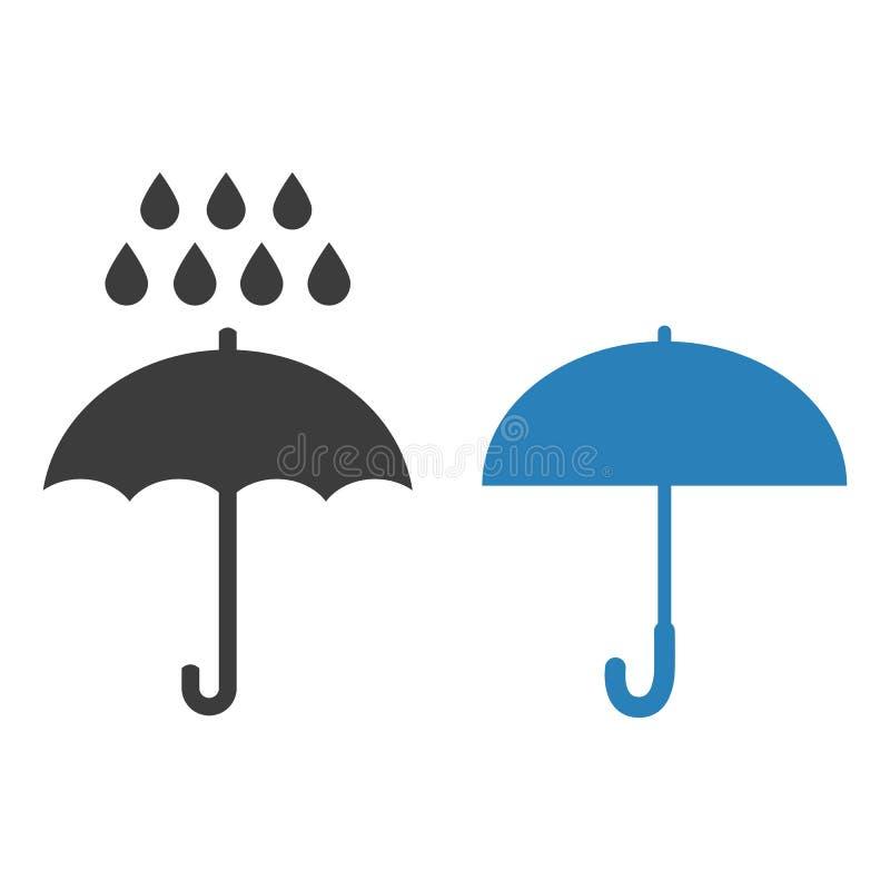 Design för lägenhet för paraplysymbolsvektor vektor illustrationer