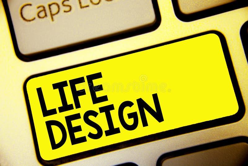 Design för liv för textteckenvisning Begreppsmässig fotojämvikt hur du bor mellan arbetsfamiljen och den underhållande tangentbor royaltyfri fotografi