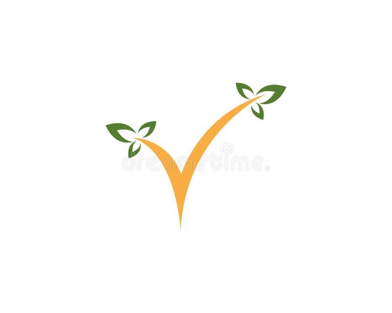 Design för logo för blad för naturkontrollfläck arkivbild