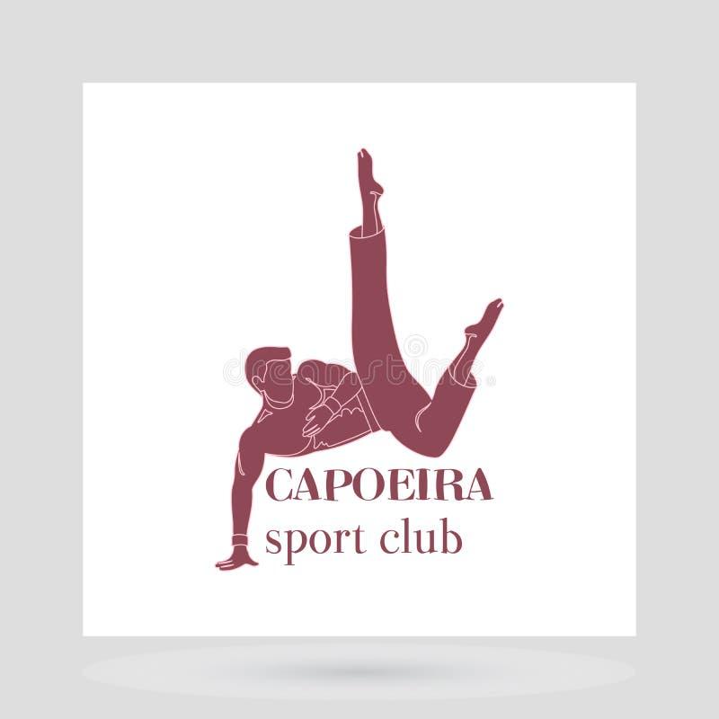 Design för logo för Capoeira sportklubba royaltyfri illustrationer