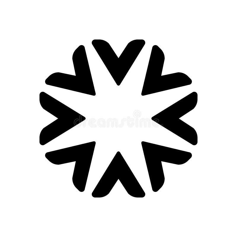 Design för logo för vektor för stjärnacirkelabstrakt begrepp Symbol för affär för logomall yrkesmässig Svart blom- logobegrepp royaltyfri illustrationer