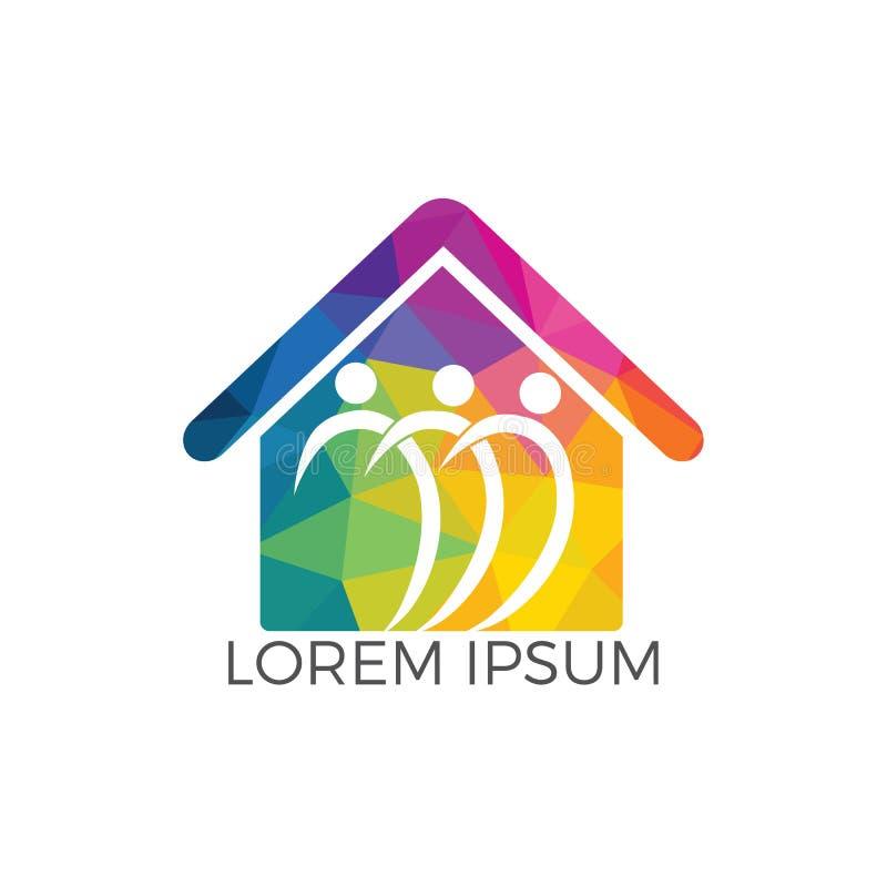 Design för logo för gemenskaphem royaltyfri illustrationer