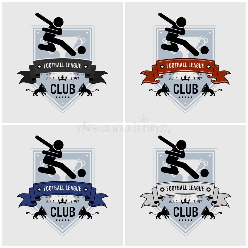 Design för logo för klubba för fotbolllag stock illustrationer