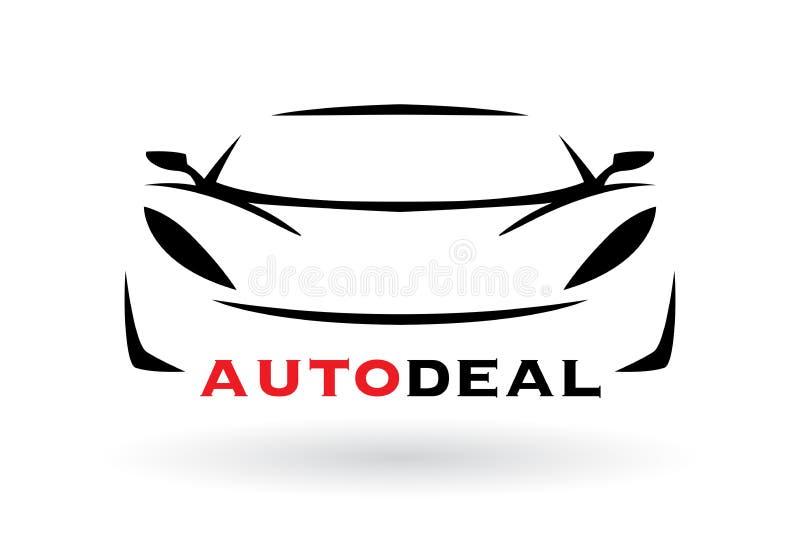 Design för logo för sportbilmedelkontur royaltyfri illustrationer