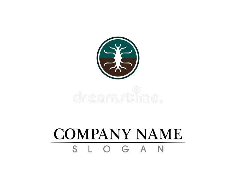 Design för logo för trädbladvektor, eco-vänskapsmatch begrepp arkivfoto