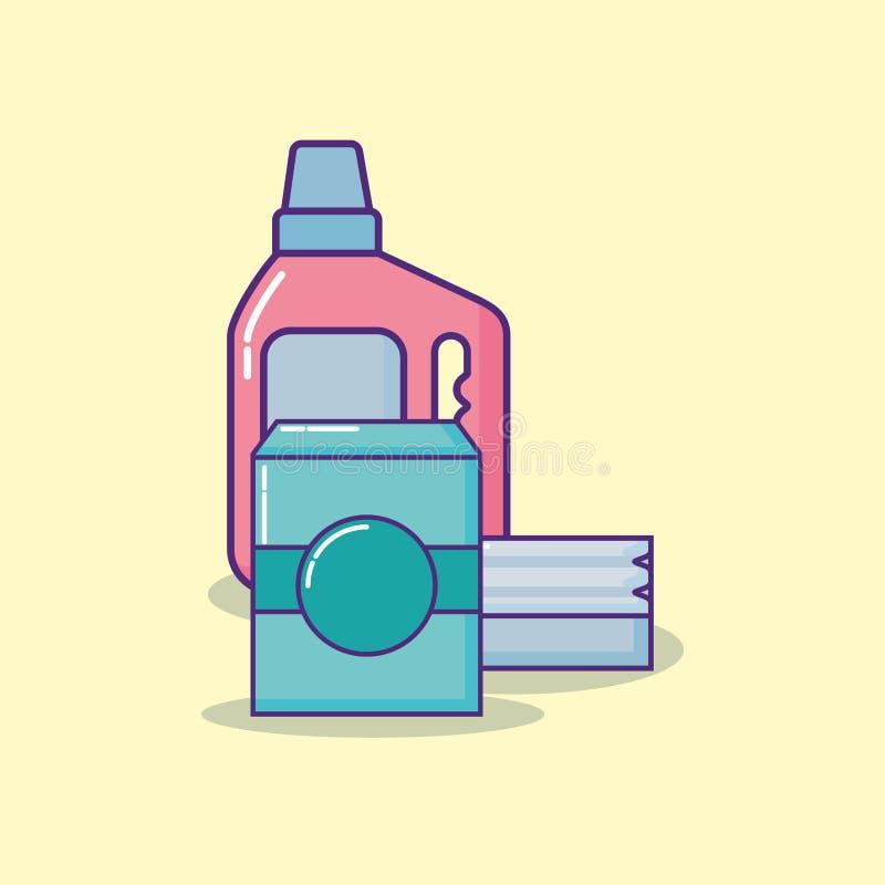 Design för lokalvårdtillförsel royaltyfri illustrationer