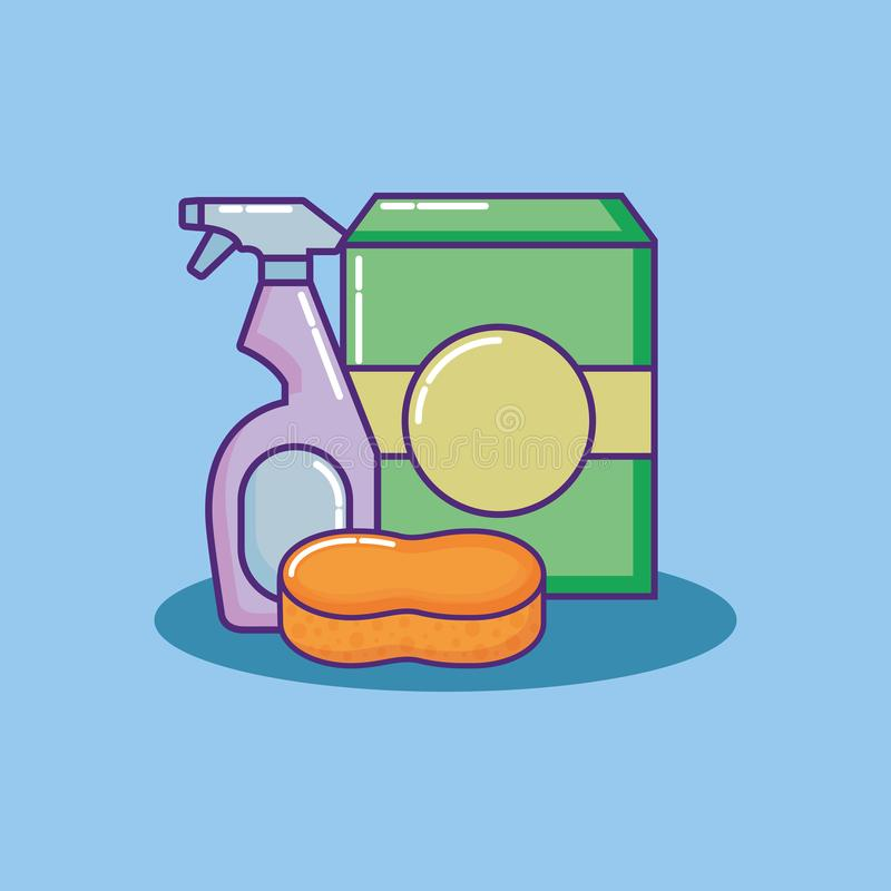 Design för lokalvårdtillförsel vektor illustrationer