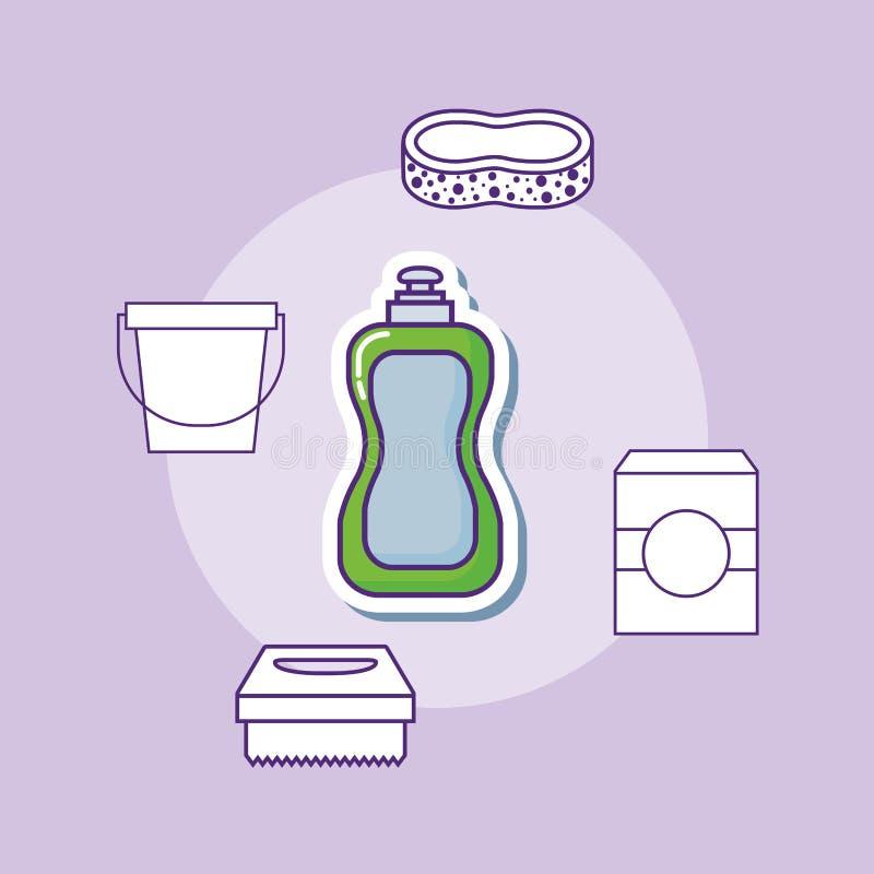 Design för lokalvårdtillförsel stock illustrationer