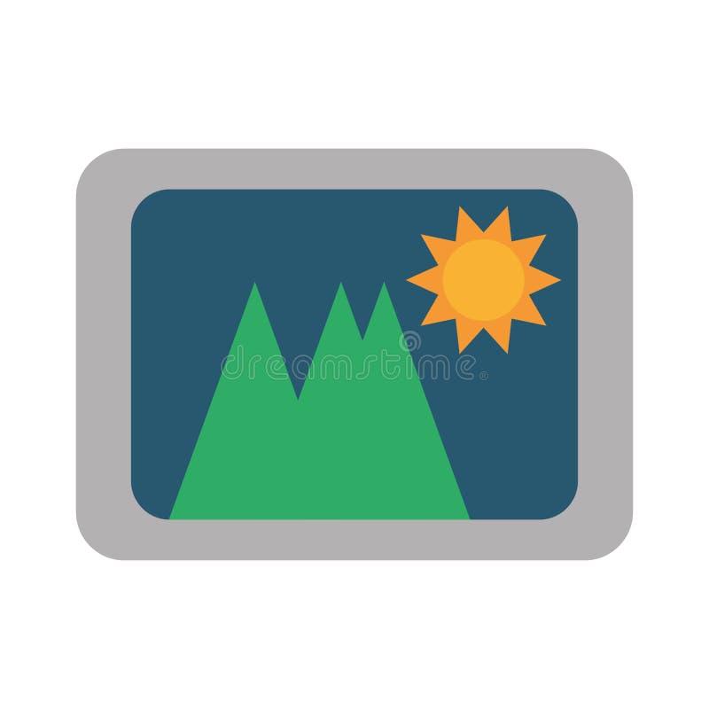 Design för lopp för foto för bildbild stock illustrationer