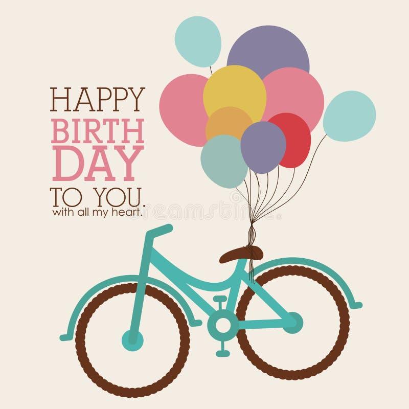 Design för lycklig födelsedag stock illustrationer