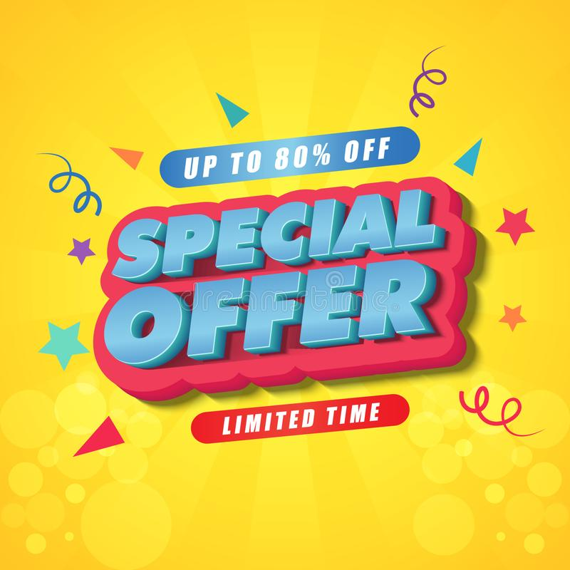 Design för mall för affisch för begränsad tid för specialt erbjudande royaltyfri bild