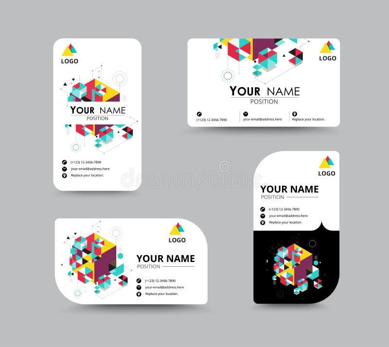 Design för mall för kort för affärskontakt Vektormateriel royaltyfri illustrationer