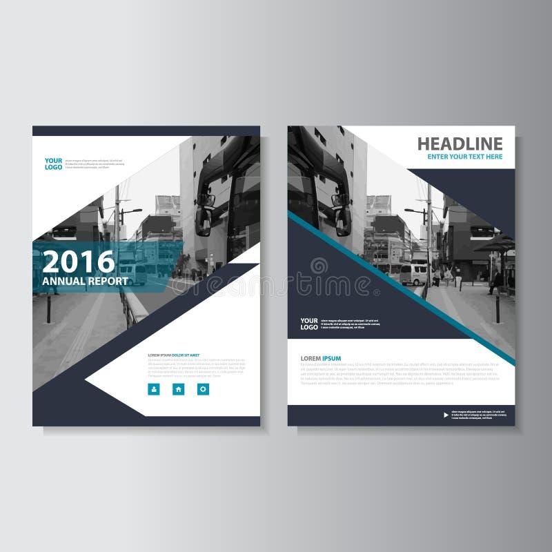 Design för mall för reklamblad för broschyr för broschyr för vektortidskriftårsrapport, bokomslagorienteringsdesign royaltyfri illustrationer